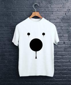 Мъжка Тениска с щампа цвят бял bear nose