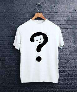 мъжка тениска bear white