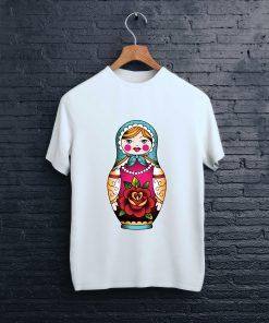 мъжка тениска matrioshka white