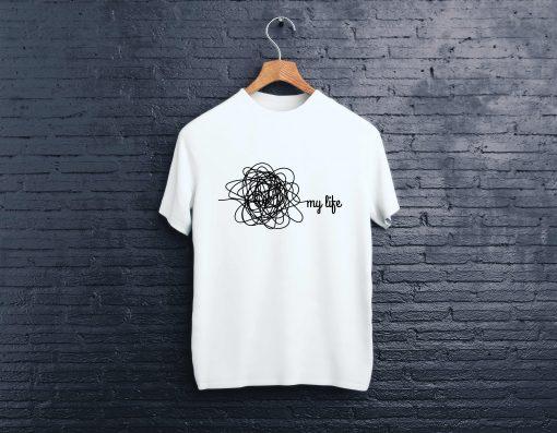 мъжка тениска my life white