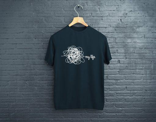 мъжка тениска my life black