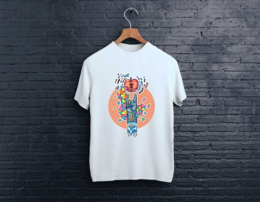 мъжка тениска ruka iabulka