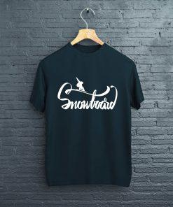 мъжка тениска snowboard black