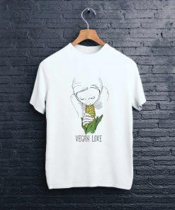 мъжка тениска vegan love