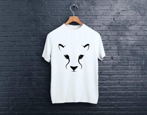 мъжка тениска cat white