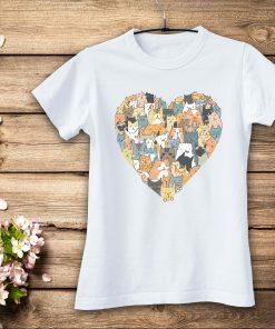 дамска тениска cats heart