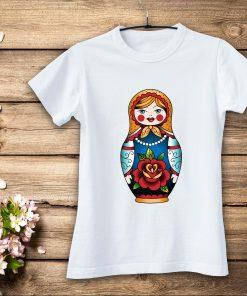 дамска тениска matrioshka white