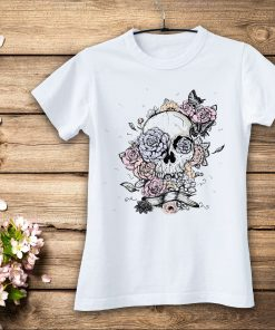дамска тениска skull and roses