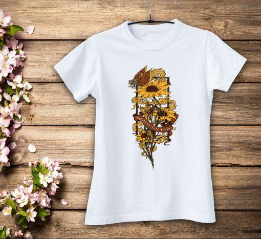 дамска тениска sunflowers