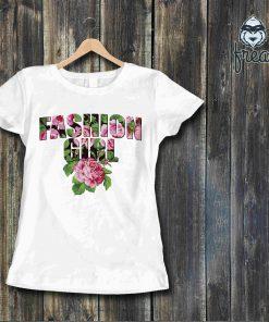 Дамска тениска печат fashon girl