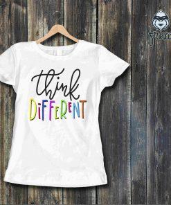 Дамска тениска с щампа think different