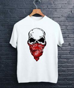 Мъжка тениска с печат gangsta skull