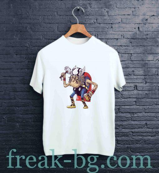 мъжка тениска с печат old thor