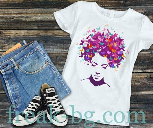 Дамска тениска с печат Color Hair