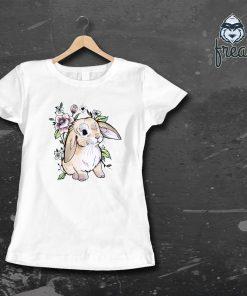 дамска тениска с печат зайче