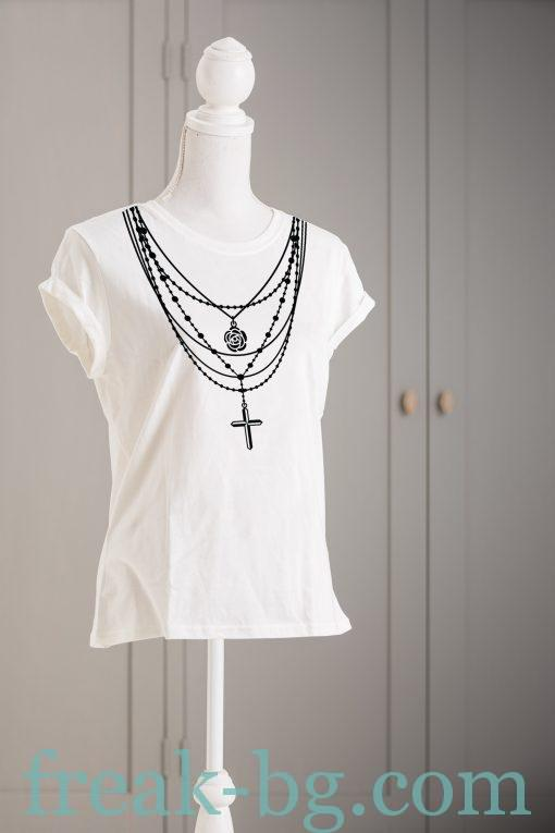 Дамска тениска с печат necklace 1