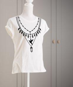 дамска тениска с печат necklace 2