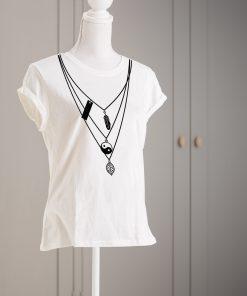 дамска тениска с печат necklace 3