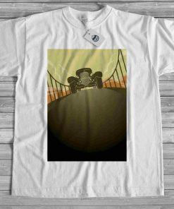 мъжка тениска old mobile bridge