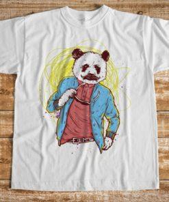 мъжка тениска panda bear