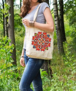 памучна торбичка с печат звезда