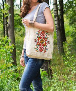 памучна торбичка с печат лазарки