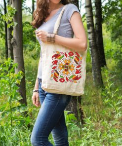 памучна торбичка с печат лоза