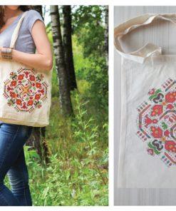 памучна торбичка с печат слънце