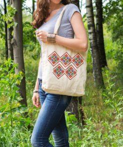 памучна торбичка с печат шевица 8