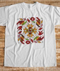 Мъжка тениска с печат шевица лоза