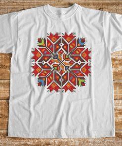 мъжка тениска с печат шевица звезда