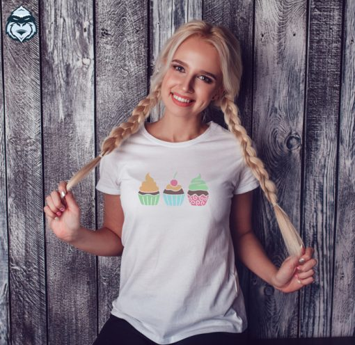 дамска тениска cupcakes