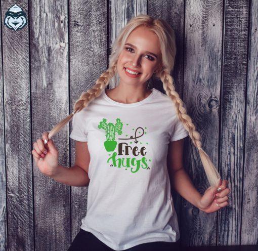 дамска тениска free hugs