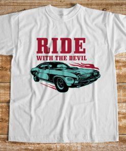 мъжка тениска ride with the devil