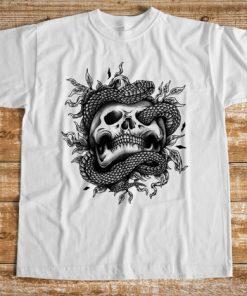 мъжка тениска snake skull