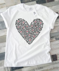 унисекс тениска Keith Haring heart