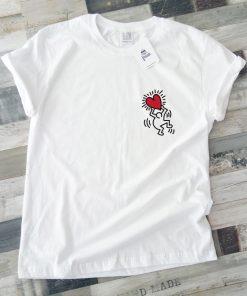 унисекс тениска Keith Haring logo heart