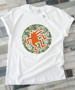 унисекс тениска keeth haring orange wolf 1