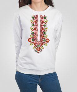 дамска блуза с щампа шевица лазарки пазва 1