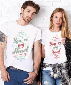тениски за двойки heart soul
