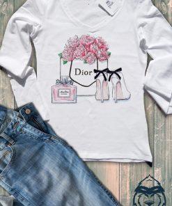 Дамска тениска с дълъг ръкав и остро деколте dior buket