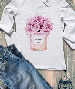 Дамска тениска с дълъг ръкав и остро деколте chanel buket