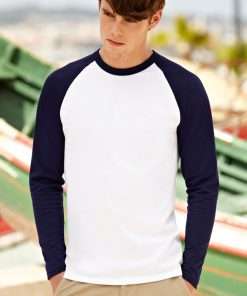 Мъжка тениска с дълъг ръкав VALUEWEIGHT BASEBALL front 1