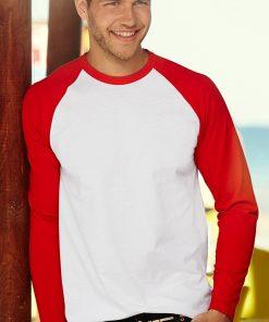 Мъжка тениска с дълъг ръкав VALUEWEIGHT BASEBALL front 2