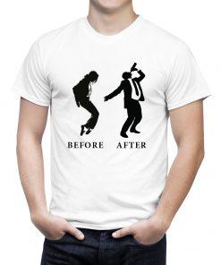 Мъжка тениска с щампа before after