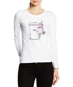 дамска тениска с дълги ръкави и обло деколте fendi cup