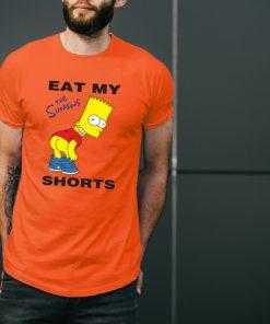 мъжка тениска eat my shorts orange