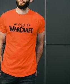 мъжка тениска word of warcraft orange