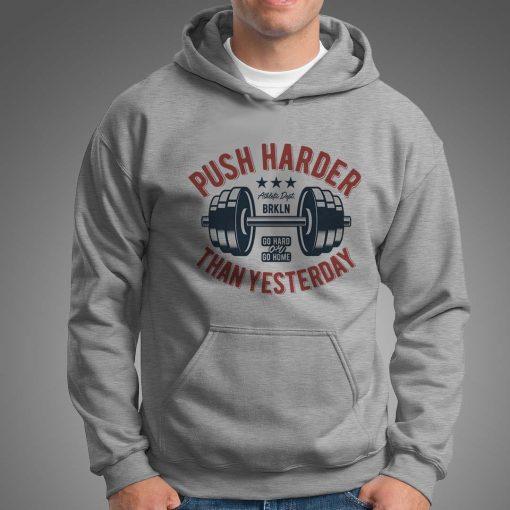 мъжки суитчър push harder grey