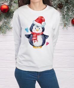 дамска блуза christmas pinguin